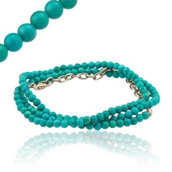 """TURQUOISE BEAD NECKLACE 16"""""""