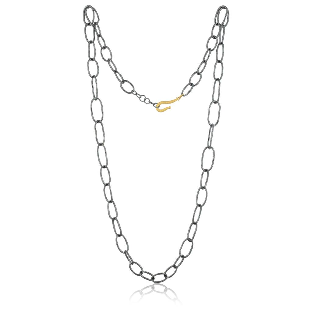 GRADUATED OVAL LINKS NECKLACE